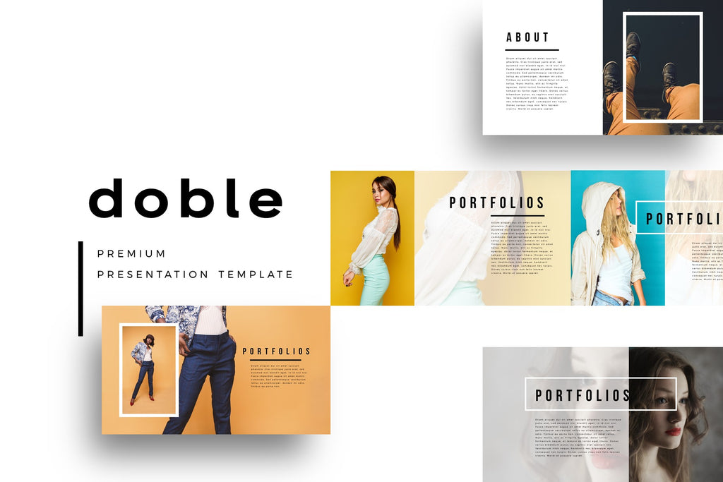 Doble portfolio designs powerpoint template slidebe doble portfolio designs powerpoint template maxwellsz