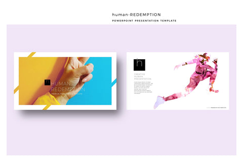 Human Business PowerPoint Template Redemption