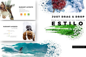 ESTILO Custom Brush Effect PowerPoint Template