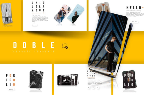 DOBLE Portfolio Designs Keynote Template