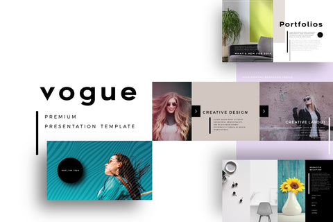 Vogue Pitch Deck PowerPoint Template