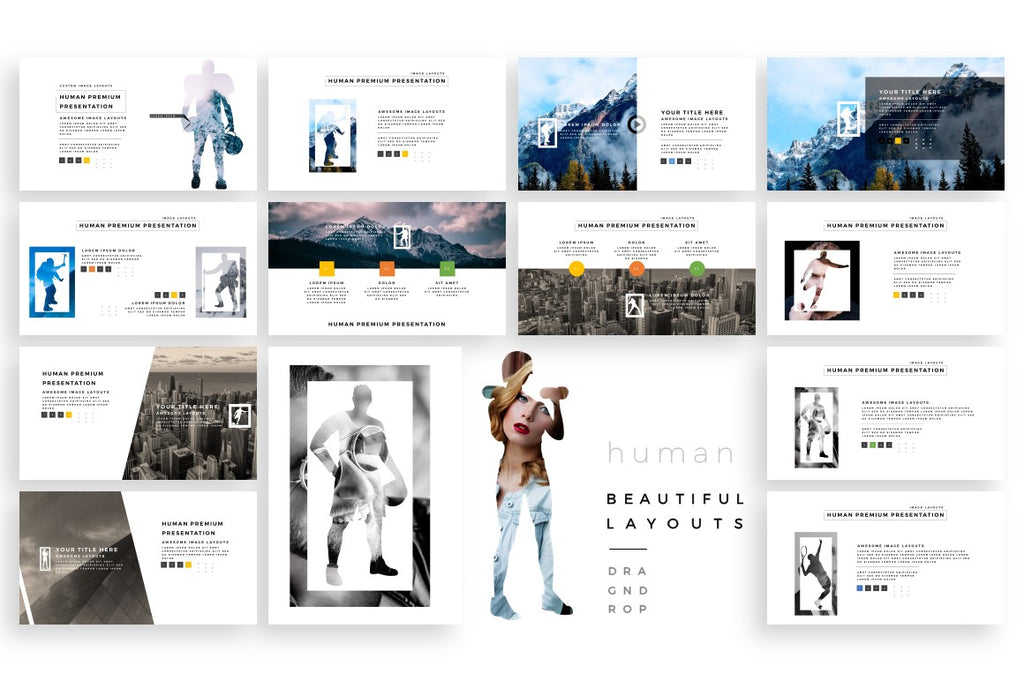 human dynamic powerpoint template slidebe