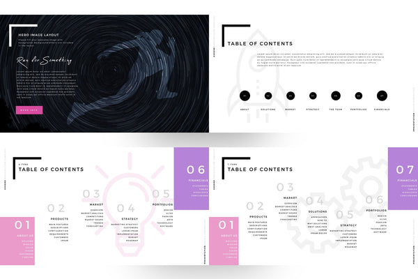 EUGENE Pink Color PowerPoint Template