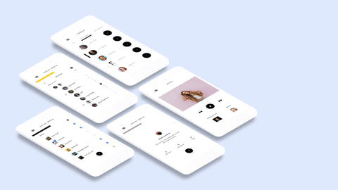 White Clay APP Screen Mockup PowerPoint Template