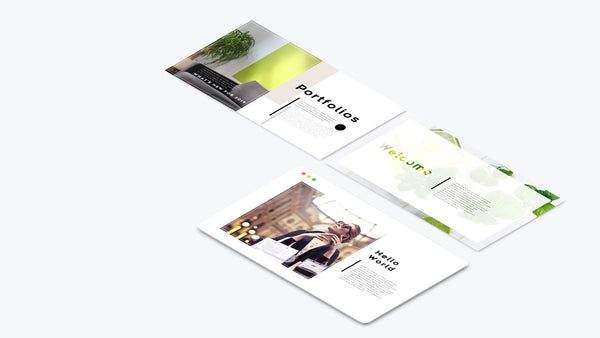 3 Web Slide Parallel Rotation PowerPoint Template