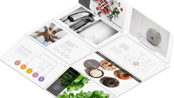 8 Web Screen Mockup  PowerPoint Template