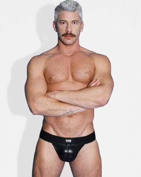 Tom of Finland Leather Jock Strap SM