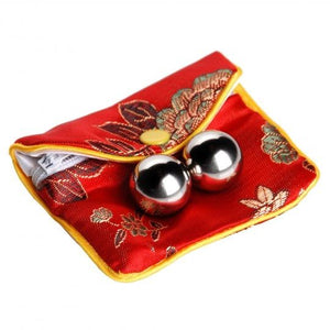 Stainless Steel Benwa Balls Kegel Balls with Pouch