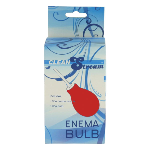 CleanStream Enema Bulb Red