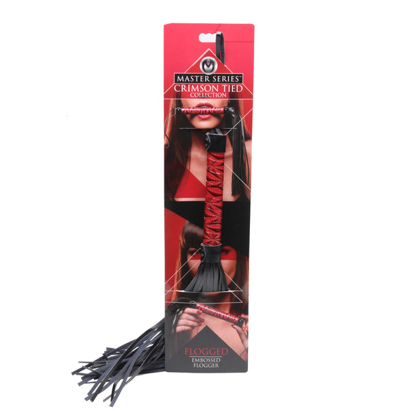 Crimson Tied Embossed Flogger