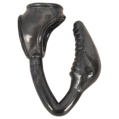 The Earl Cock and Ball Ring with Anal Plug