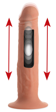 Kinetic Thumping 7X Remote Control Dildo