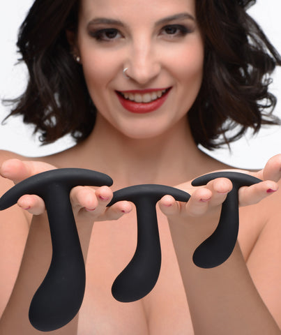 Dark Delights 3 Piece Curved Anal Trainer Set