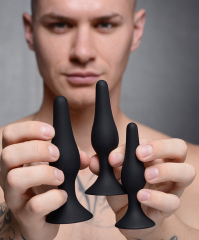 Triple Spire Tapered Silicone Anal Trainer Set