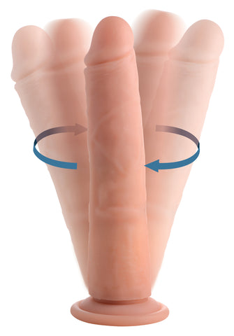 Vibrating and Rotating Remote Control Silicone Dildo