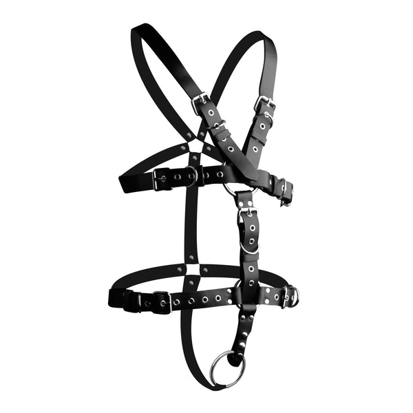 Strict Leather Body Harness with Cock Ring