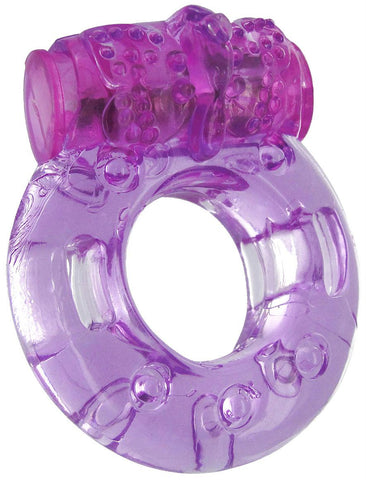 Purple Orgasmic Vibrating Cockring - Packaged
