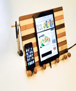 bamboo compact workstation shown with tablet and iphone