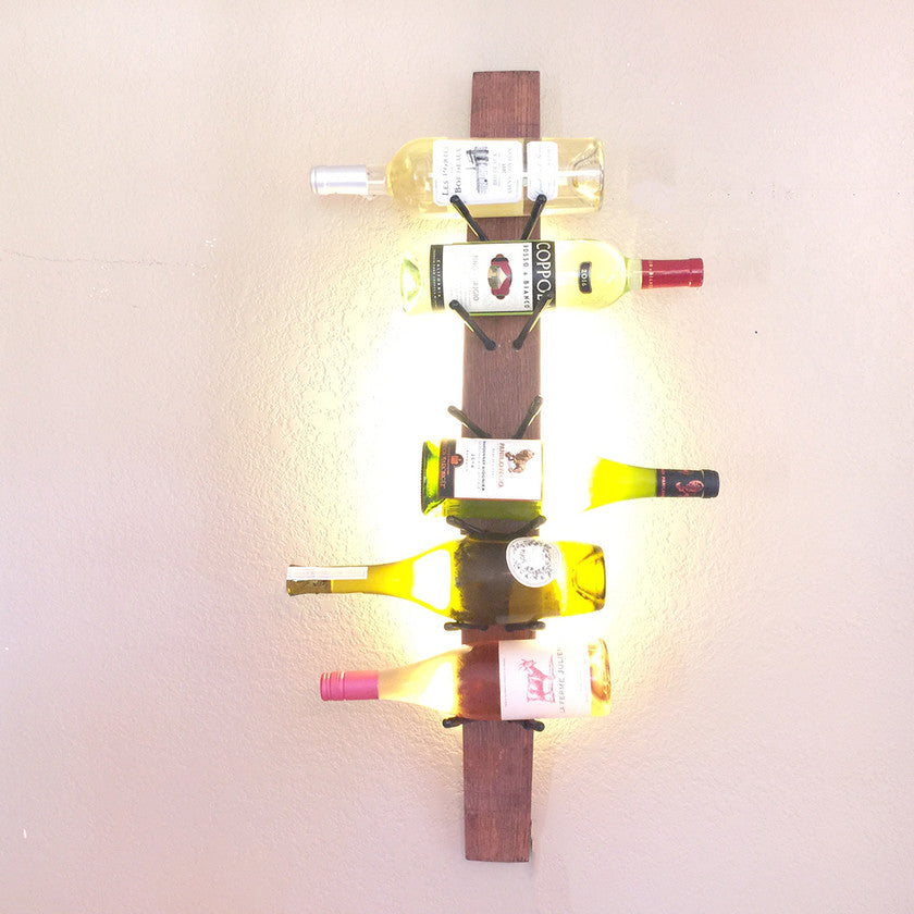 LED Lighted Modular Wine Rack System