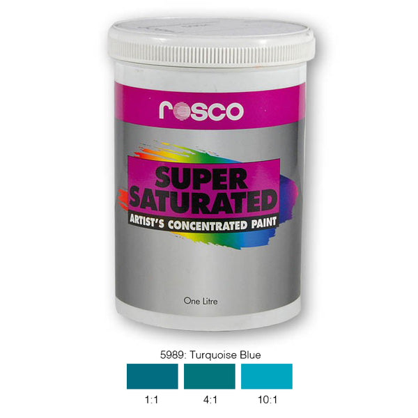 Rosco Supersaturated Scenic Paint - 5989 Turquoise Blue 1L