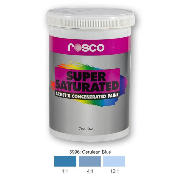 Rosco Supersaturated Scenic Paint - 5996 Cerulean Blue 1L