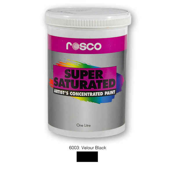 Rosco Supersaturated Scenic Paint - 6003 Velour Black 1L
