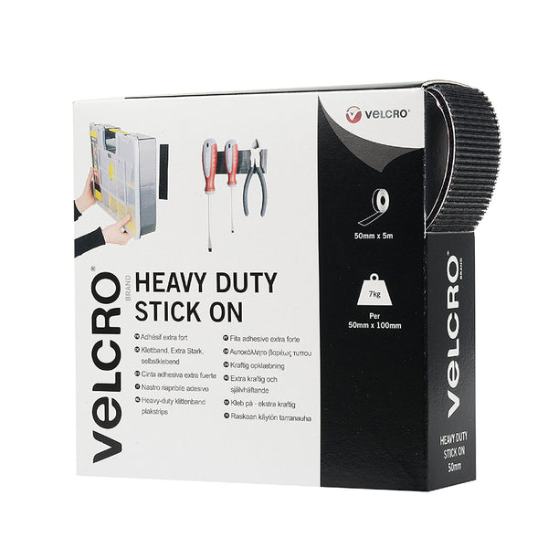 Heavy Duty 50mm Stick-On Velcro Hook & Loop