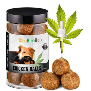 Chicken Balls | Dogs Calming Treats with CBD for Pain Relief & Anxiety By CeeBeeDoo