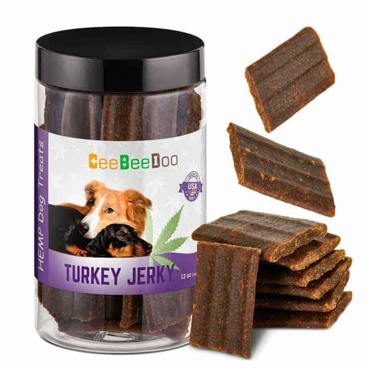 Turkey Jerky | Dogs Calming Treats with CBD for Pain Relief & Anxiety By CeeBeeDoo