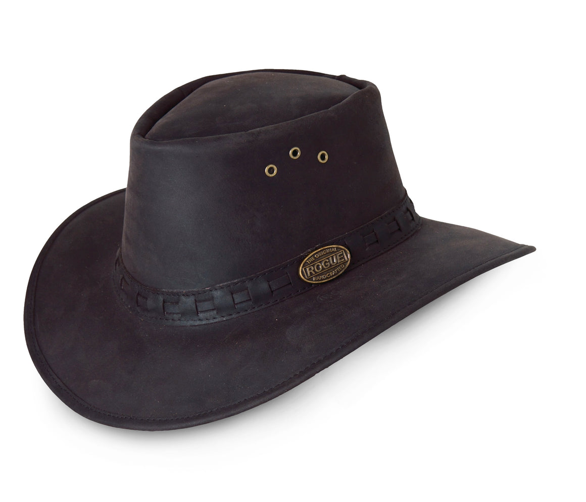 Rogue Ranger Hat 127B Black Leather  Extra Small