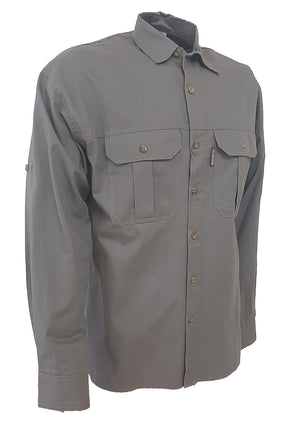 RuggedWear - Crocodile - Long Sleeve Olive Shirt