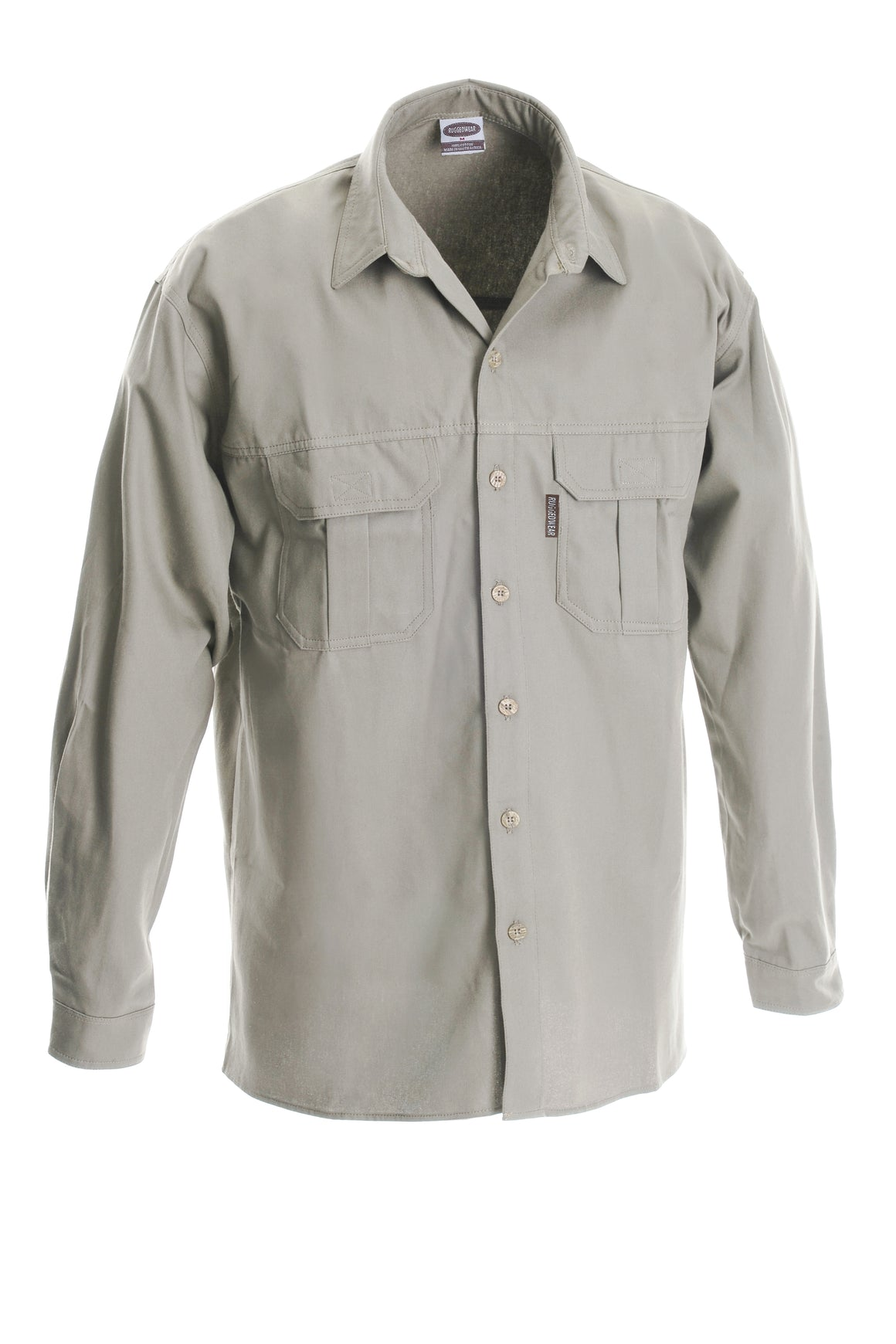 RuggedWear - Serengeti Long Sleeve - Khaki / Stone Shirt (heavier weight)