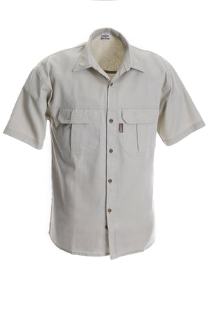 RuggedWear - Serengeti - Short Sleeve Stone / Khaki Shirt