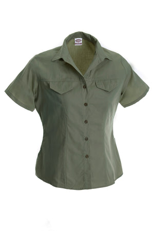 "Rugged Wear Ladies short Sleeve ""Tern""  Blouse in Olive"