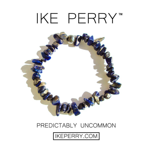 Men's Semi Precious Bead Bracelet For Men, Men's Natural Stone Bracelet, Lapis Beads - 2