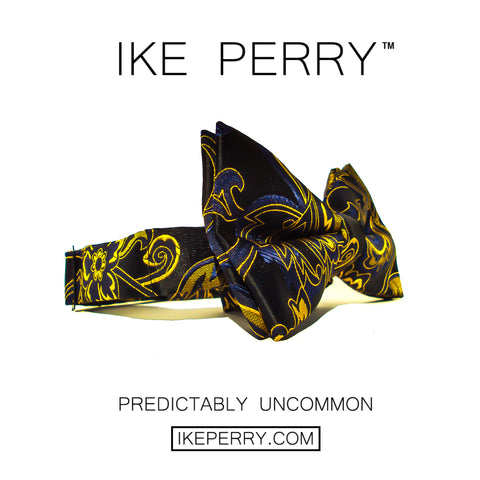 IKE PERRY Designer Tie For Guys | Mens Bow Tie, Pre-Tied Bow Tie For Men