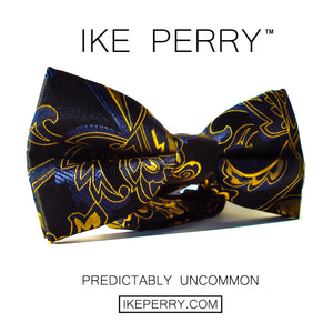IKE PERRY Mens Designer Bow Tie | Pre-Tied Bow Tie For Men