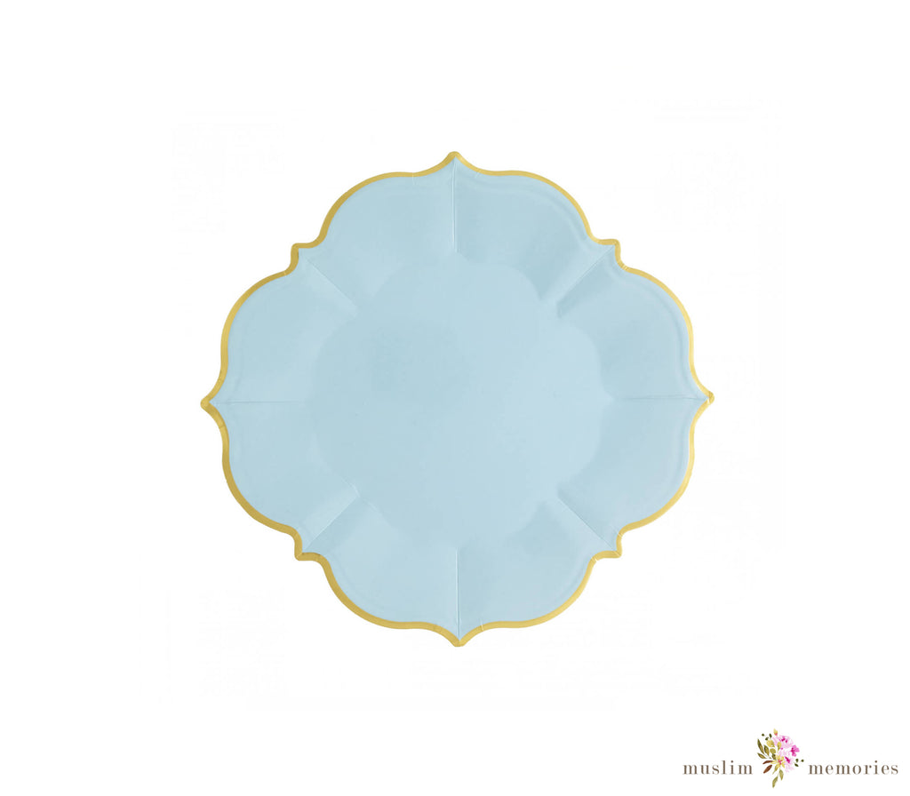 Sky Blue Lunch Plates