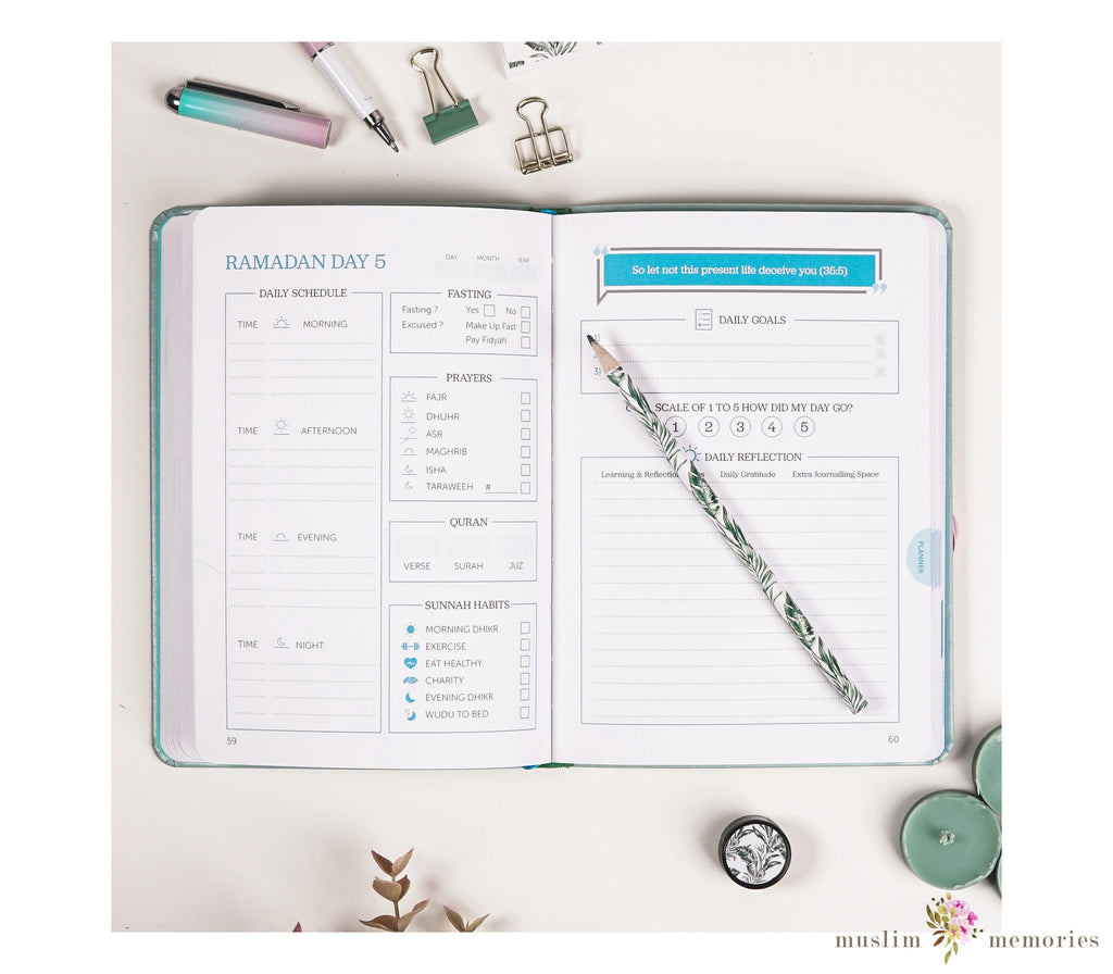 Ramadan Legacy Planner- Paradise Green Edition- Pre order!
