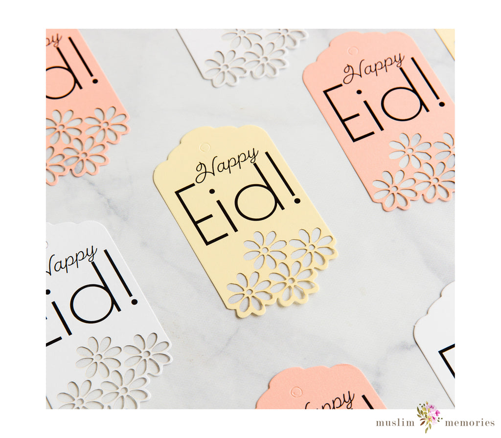 Lace 'Happy Eid' Tags