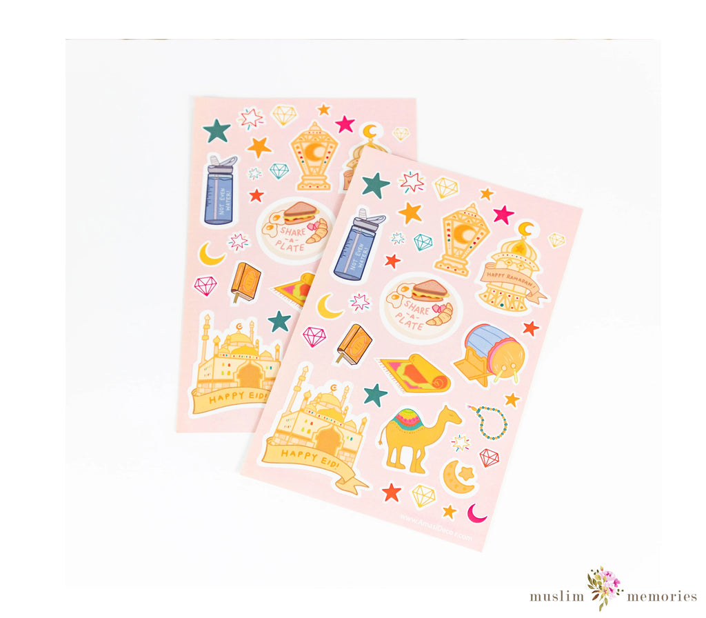Happy Ramadan & Eid Holiday Sticker Sheet (Set of Two)