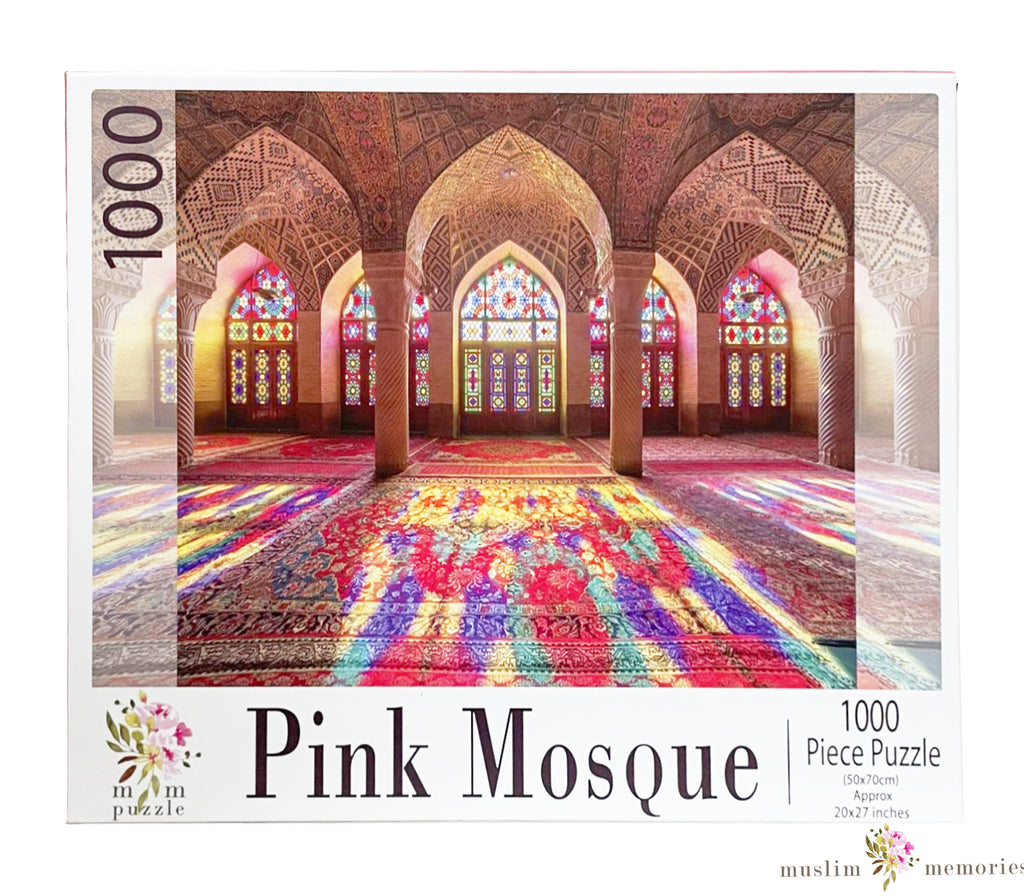 Pink Mosque 1000 Piece Puzzles