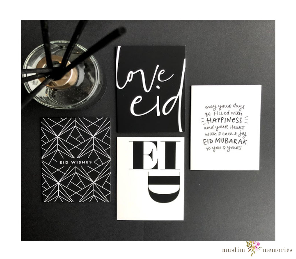 'Monotype Chic' Eid Cards Multipack