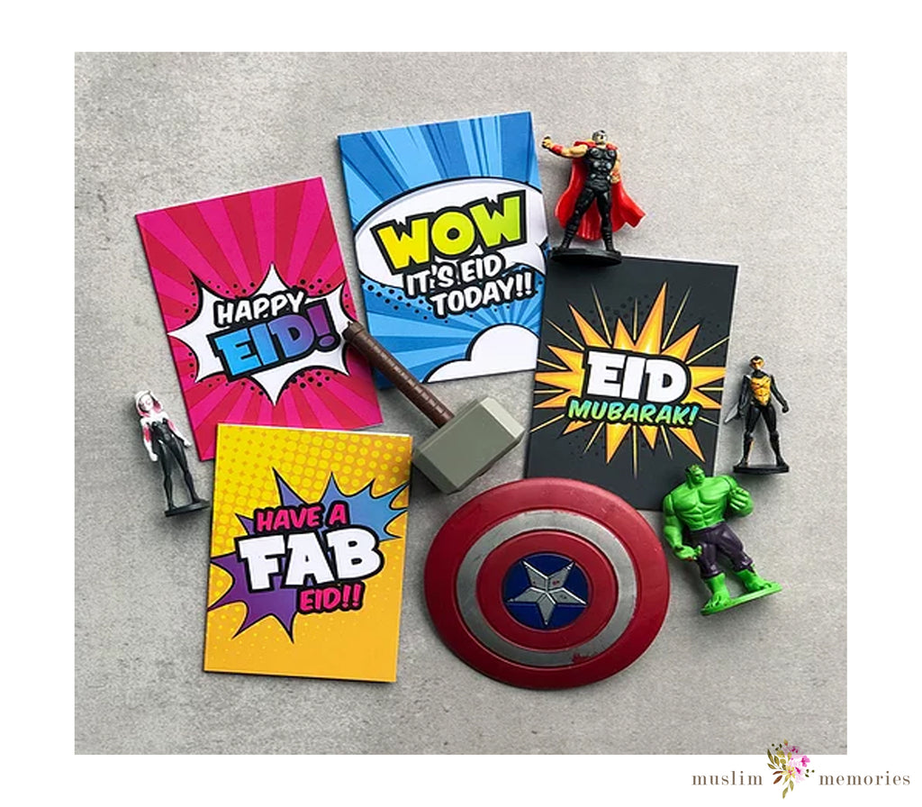 'Super Muslims' Eid Cards Multipack