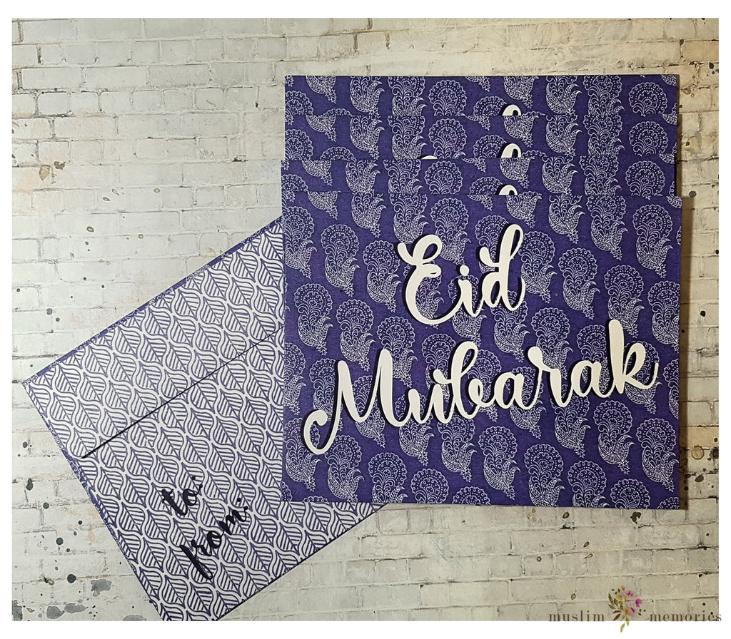 Purple Blockprint Eidi Envelopes