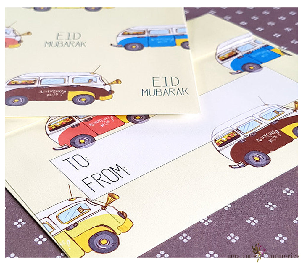 VW Bus Eidi Envelopes