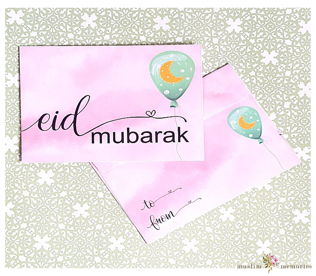 Pink Balloon Eidi Envelopes