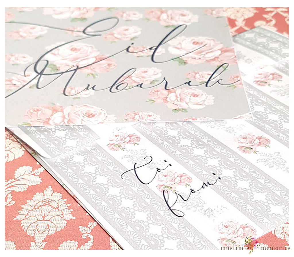 Vintage Grey Eidi Envelopes