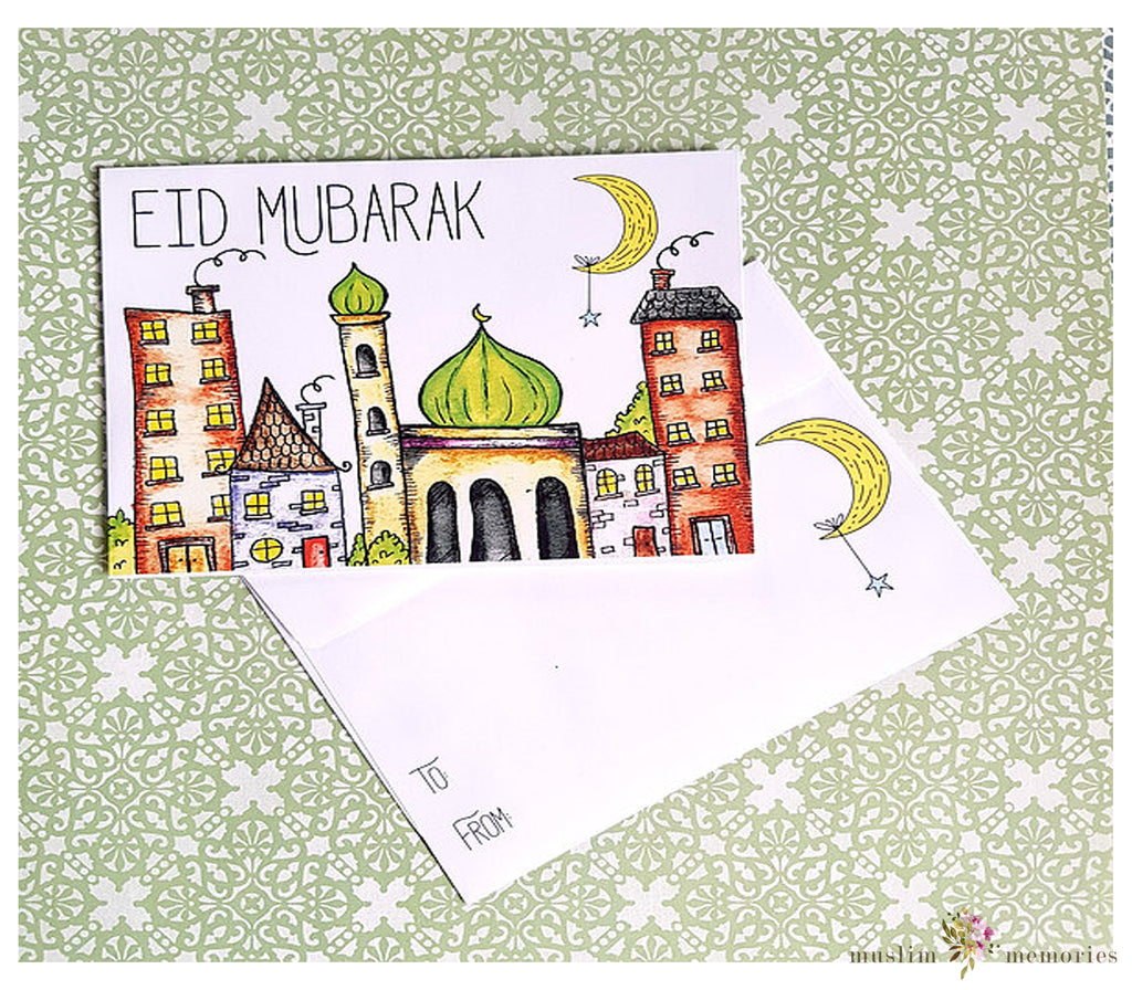 Sketched Masjid Eidi Envelopes