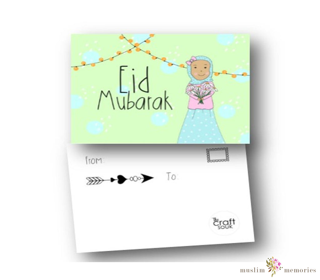 Pack of 5 Eid Postcards